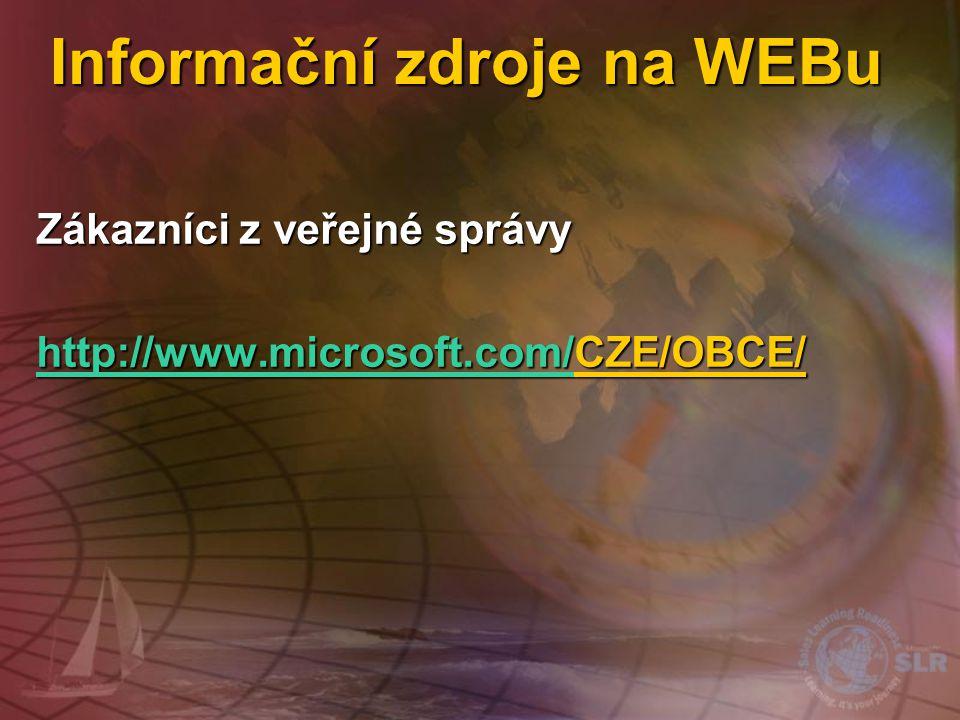 Informační zdroje na WEBu