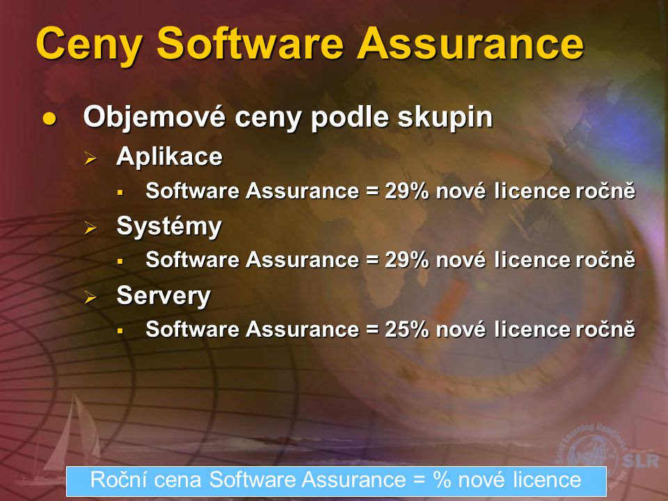Ceny Software Assurance
