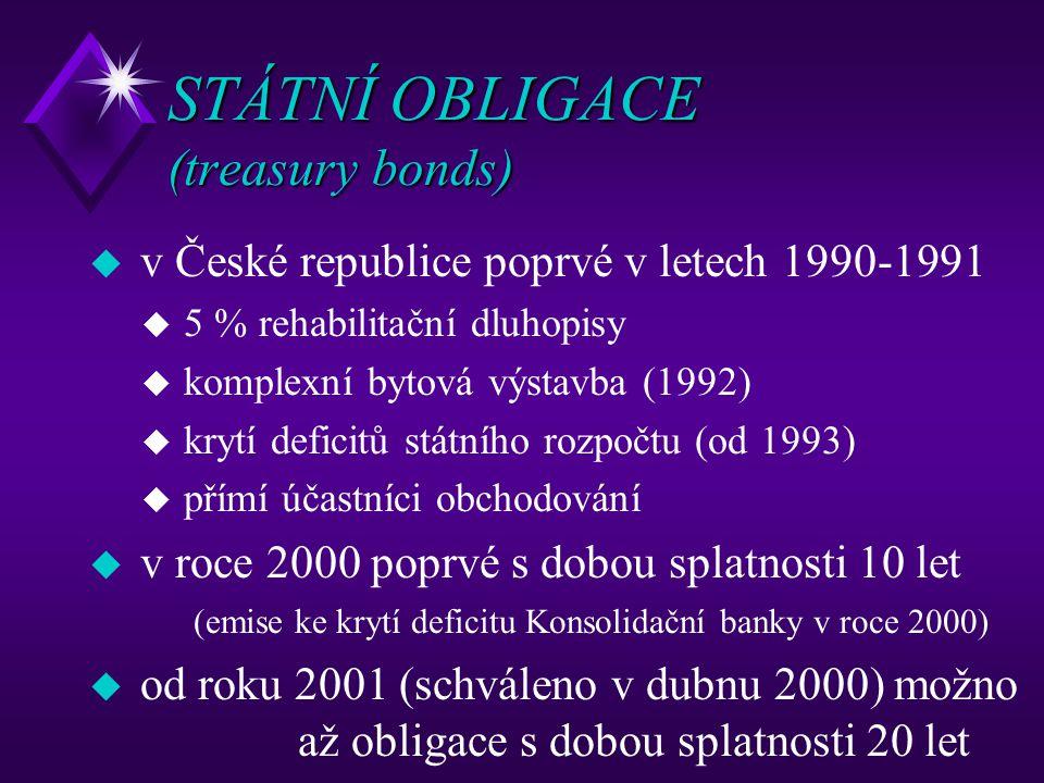 STÁTNÍ OBLIGACE (treasury bonds)