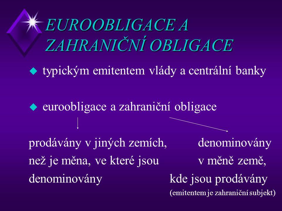 EUROOBLIGACE A ZAHRANIČNÍ OBLIGACE