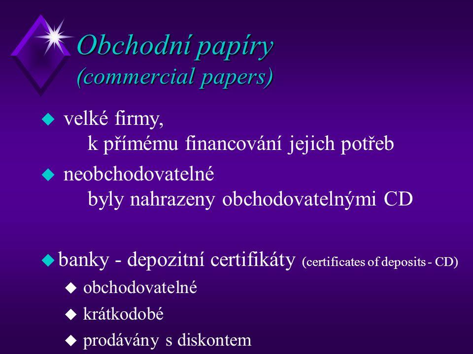 Obchodní papíry (commercial papers)
