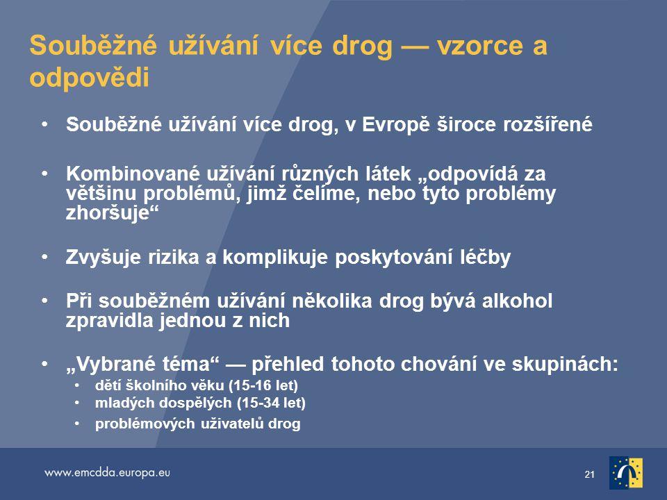 Souběžné užívání více drog — vzorce a odpovědi