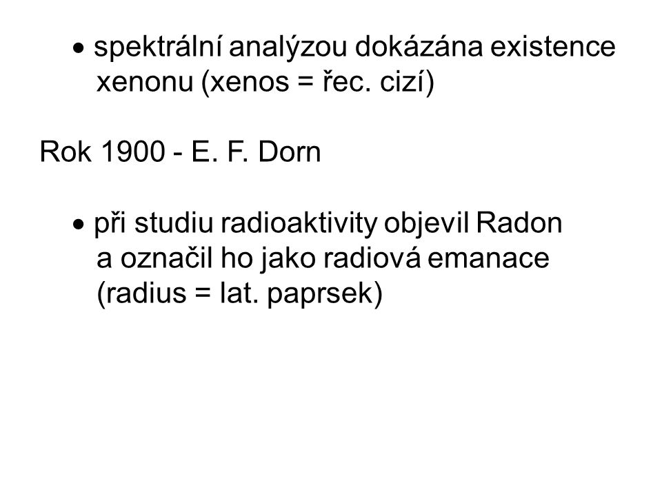  spektrální analýzou dokázána existence