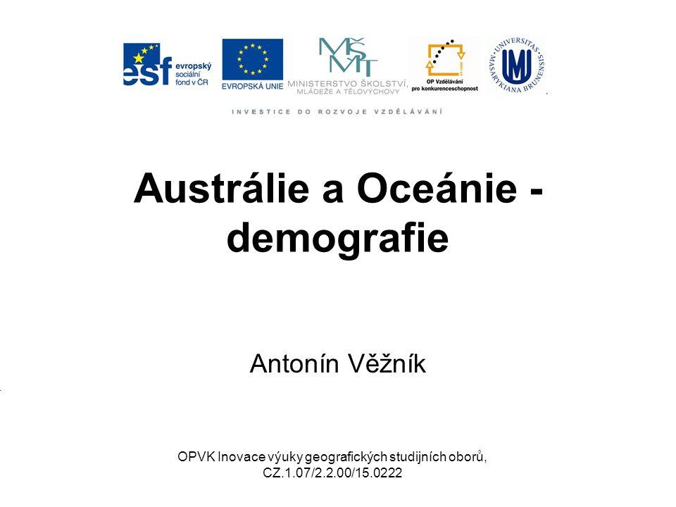 Austrálie a Oceánie - demografie