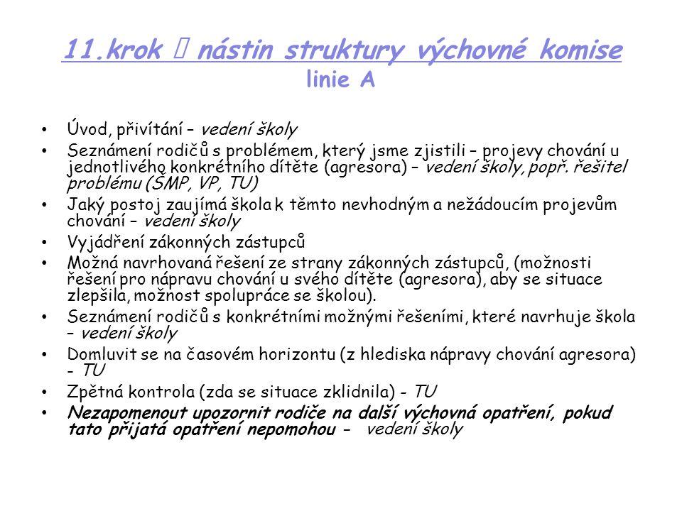 11.krok  nástin struktury výchovné komise linie A