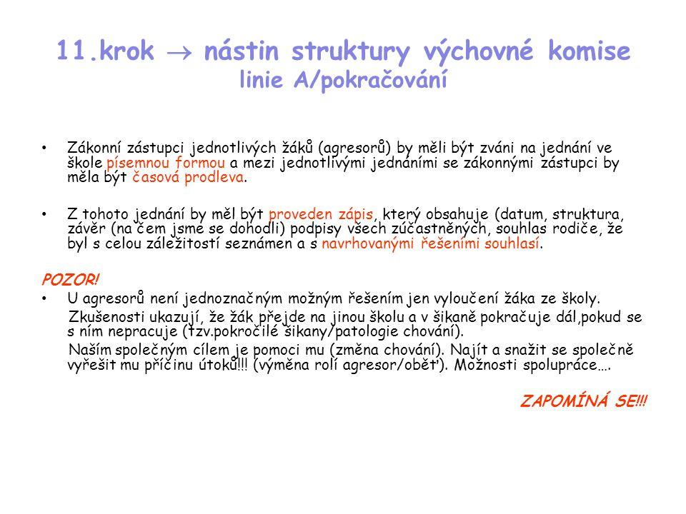 11.krok  nástin struktury výchovné komise linie A/pokračování