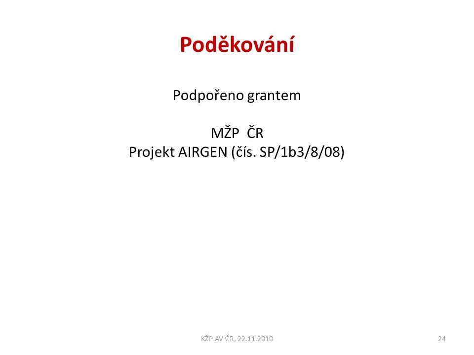 Projekt AIRGEN (čís. SP/1b3/8/08)
