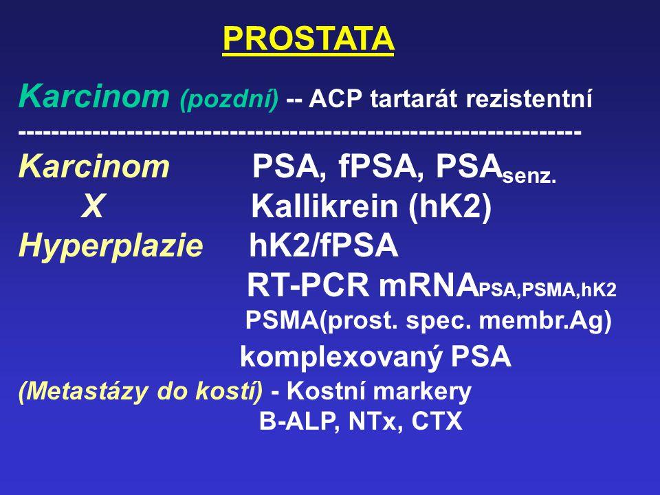 Karcinom (pozdní) -- ACP tartarát rezistentní