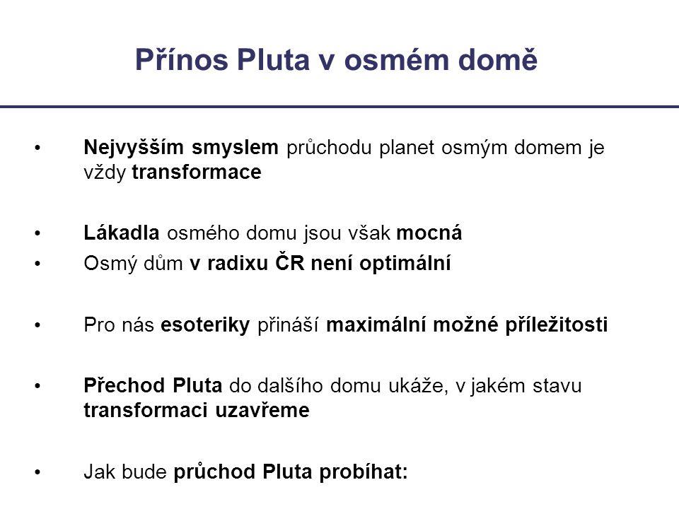 Přínos Pluta v osmém domě