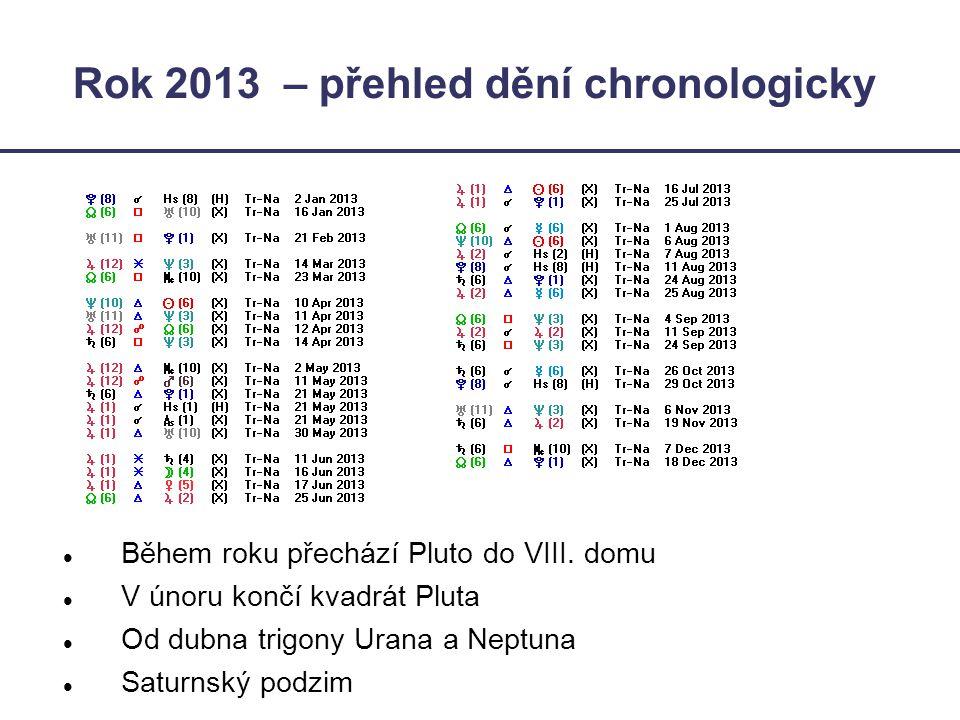 Rok 2013 – přehled dění chronologicky