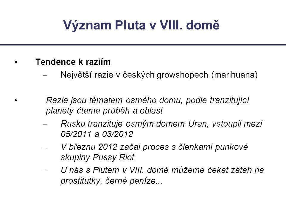 Význam Pluta v VIII. domě