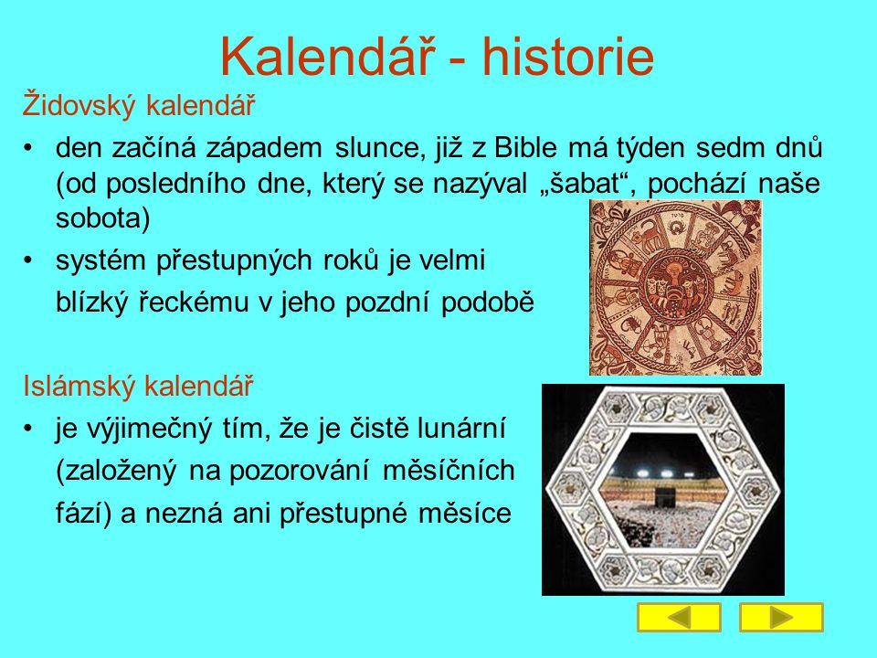 Kalendář - historie Židovský kalendář