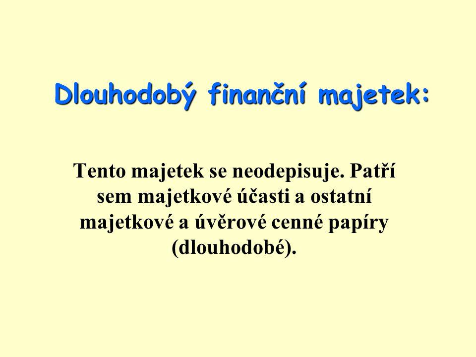 Dlouhodobý finanční majetek: