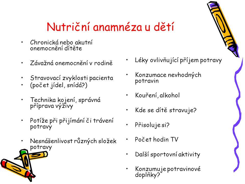 Nutriční anamnéza u dětí