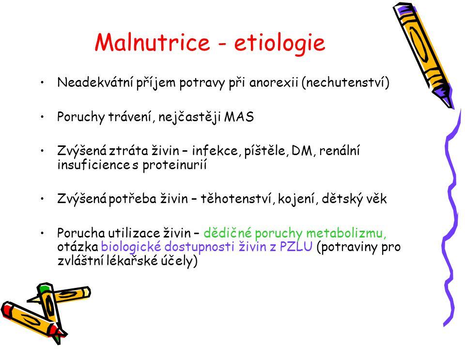 Malnutrice - etiologie