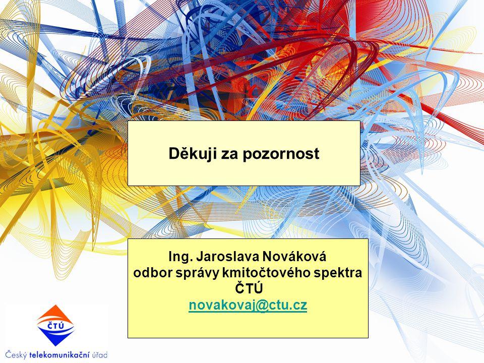 Ing. Jaroslava Nováková odbor správy kmitočtového spektra