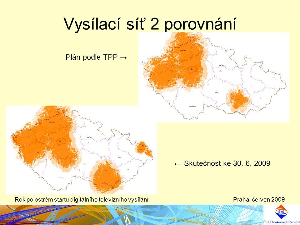 Vysílací síť 2 porovnání