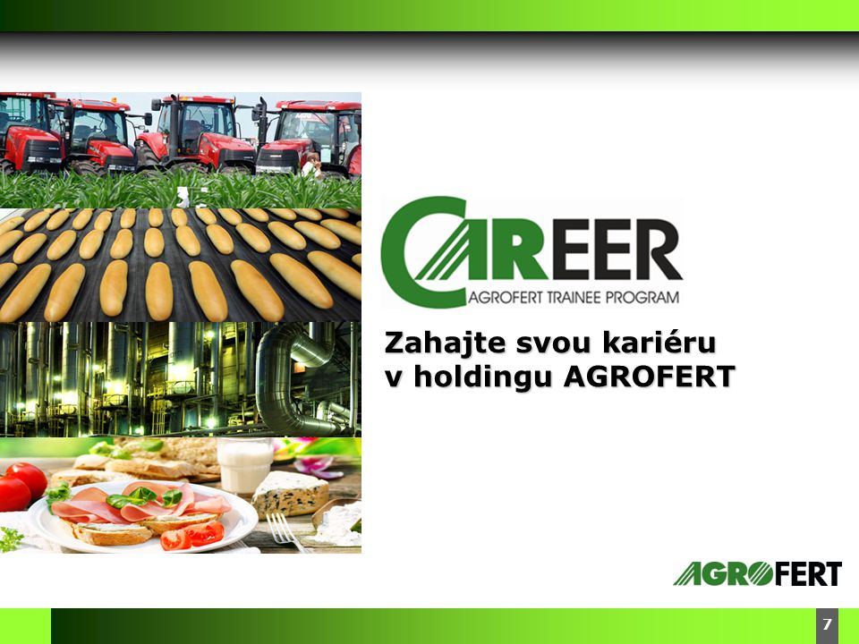 Zahajte svou kariéru v holdingu AGROFERT