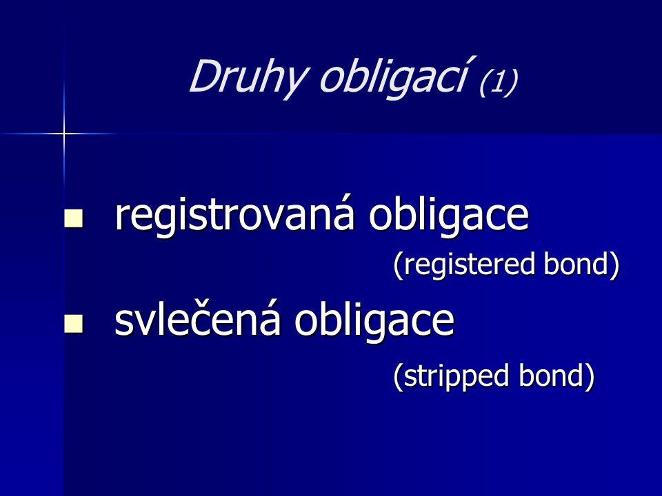 registrovaná obligace svlečená obligace