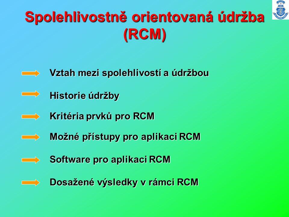 Spolehlivostně orientovaná údržba (RCM)