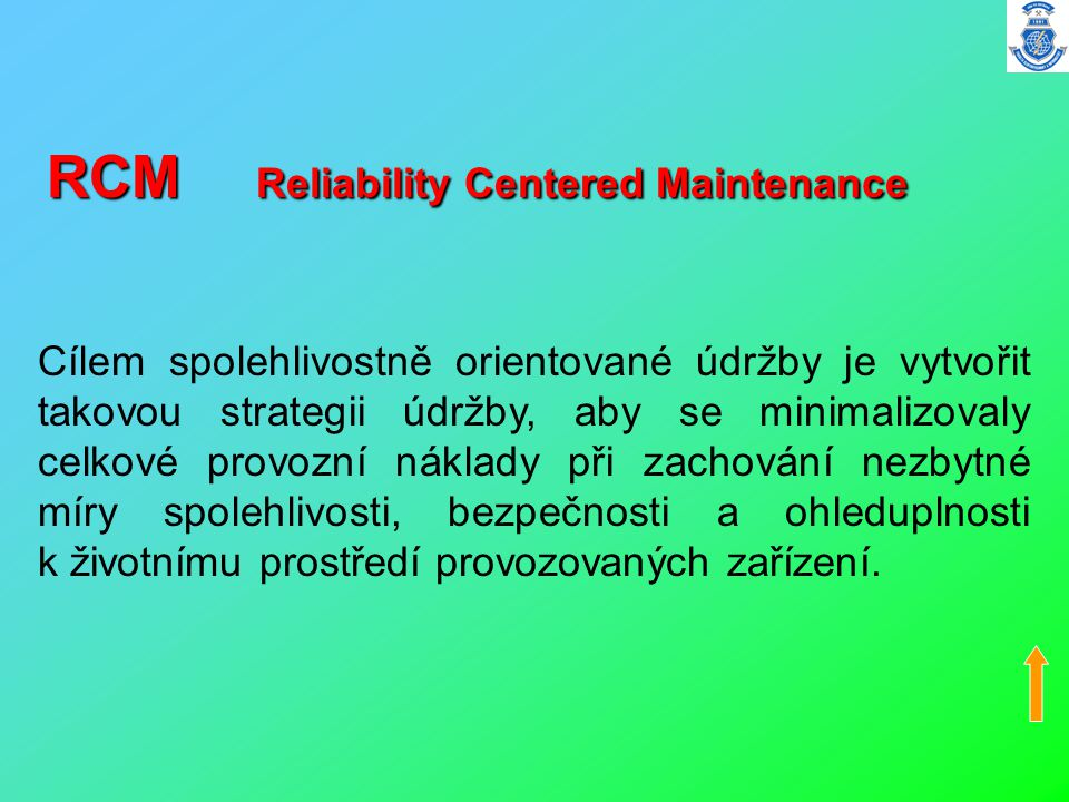 RCM Reliability Centered Maintenance