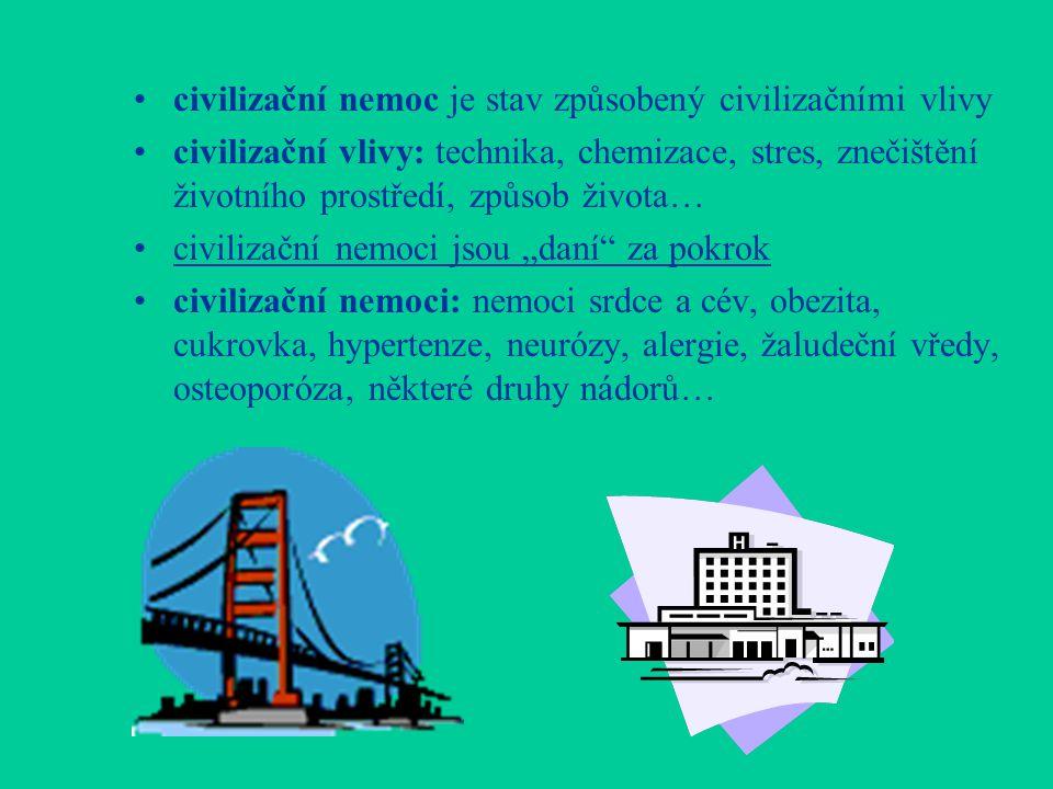 civilizační nemoc je stav způsobený civilizačními vlivy