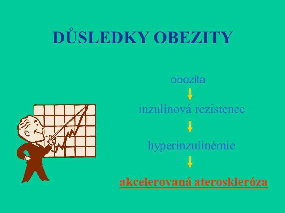 DŮSLEDKY OBEZITY inzulínová rezistence hyperinzulinémie