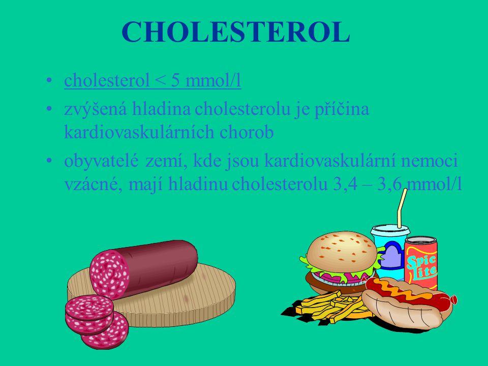 CHOLESTEROL cholesterol < 5 mmol/l