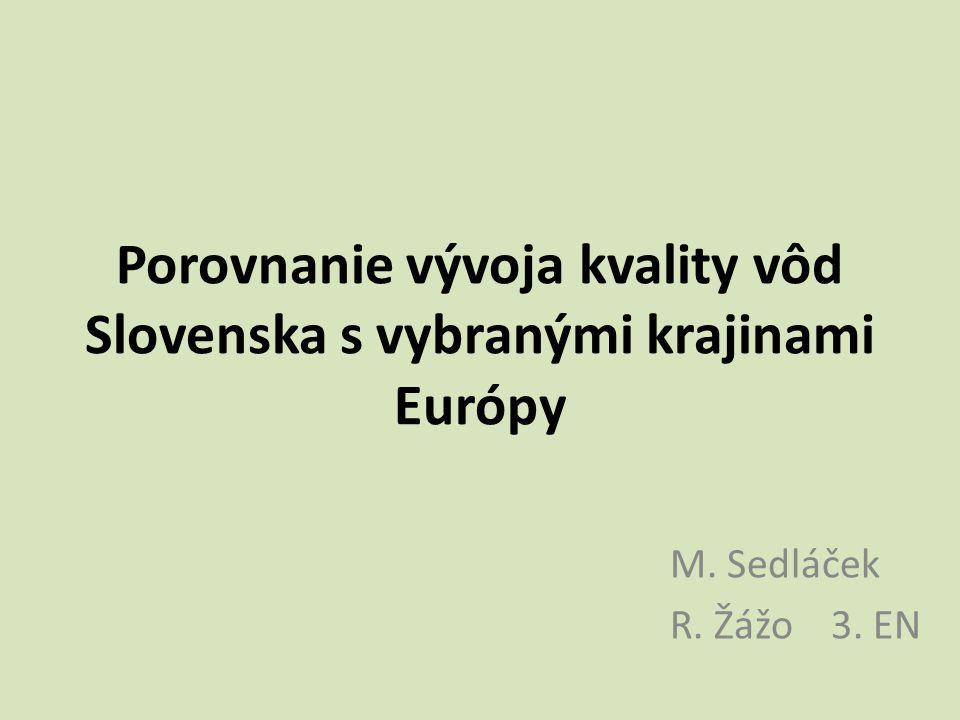 Porovnanie vývoja kvality vôd Slovenska s vybranými krajinami Európy