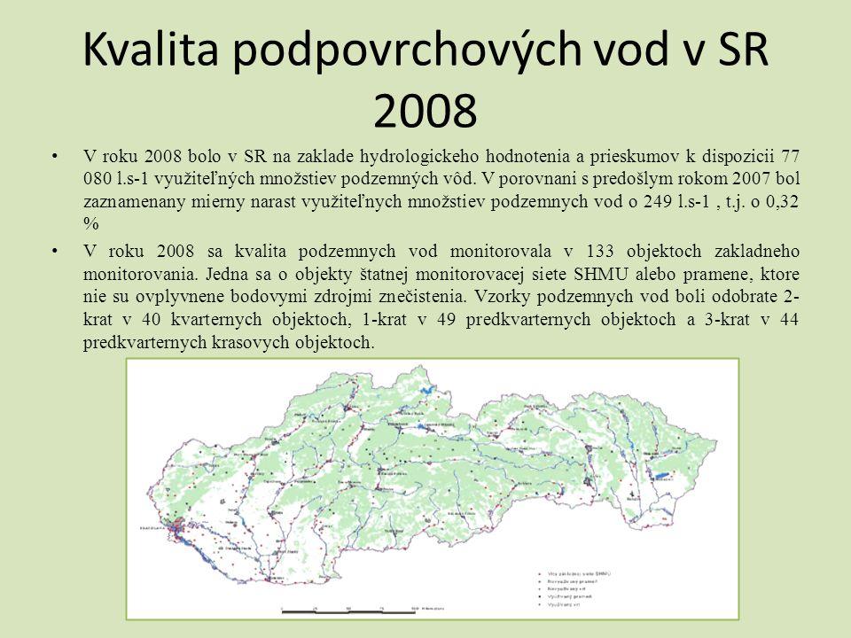 Kvalita podpovrchových vod v SR 2008