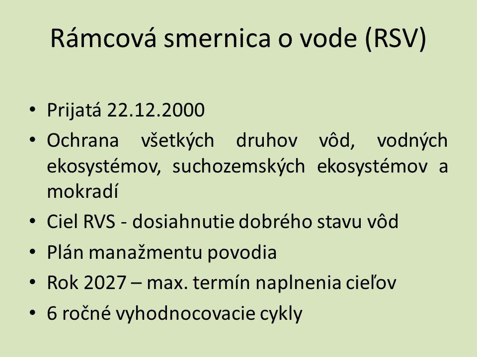 Rámcová smernica o vode (RSV)