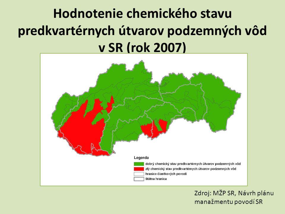 Hodnotenie chemického stavu predkvartérnych útvarov podzemných vôd v SR (rok 2007)