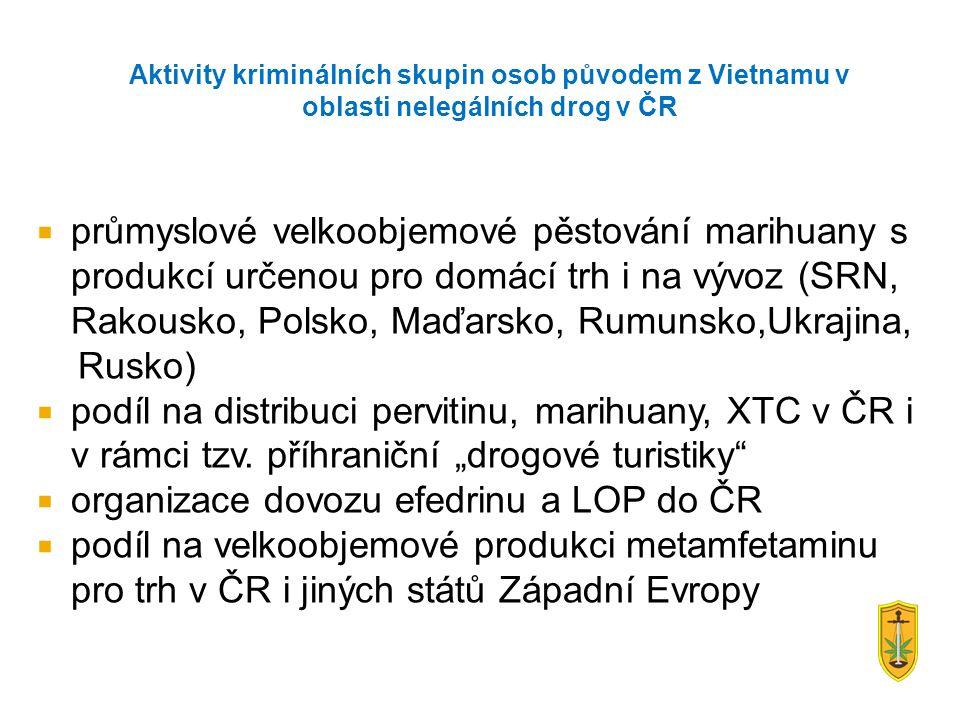 Aktivity kriminálních skupin osob původem z Vietnamu v oblasti nelegálních drog v ČR