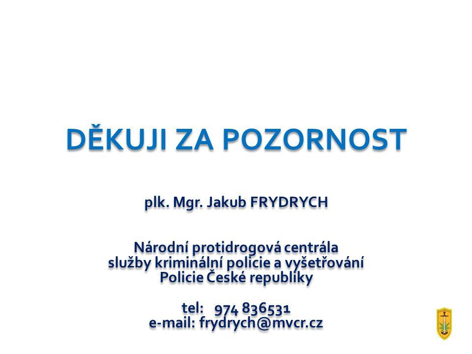 DĚKUJI ZA POZORNOST plk. Mgr. Jakub FRYDRYCH