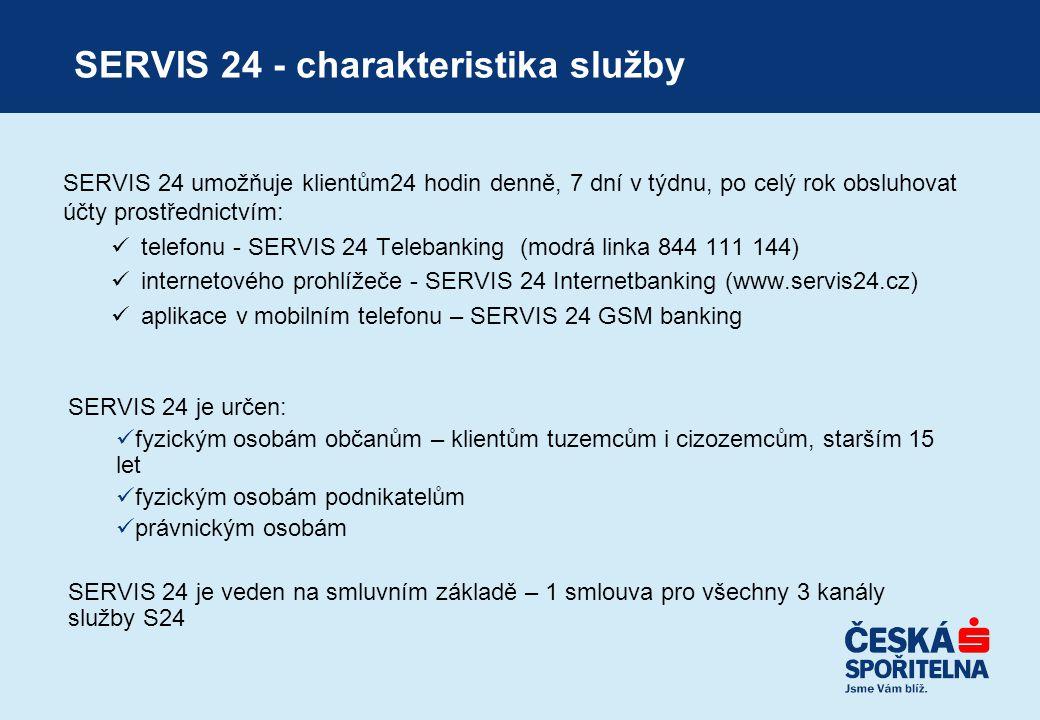 SERVIS 24 - charakteristika služby