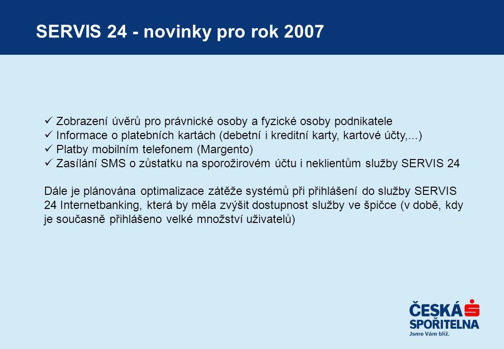 SERVIS 24 - novinky pro rok 2007