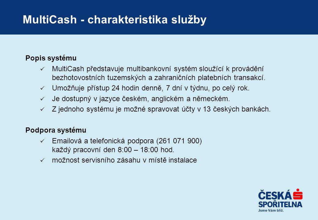 MultiCash - charakteristika služby