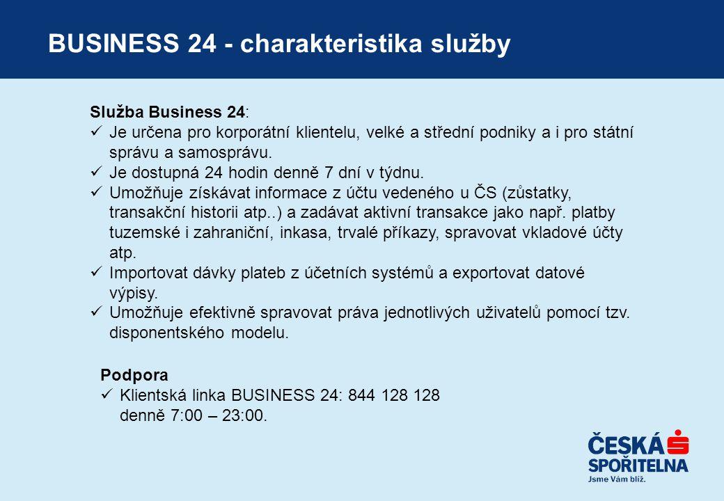 BUSINESS 24 - charakteristika služby