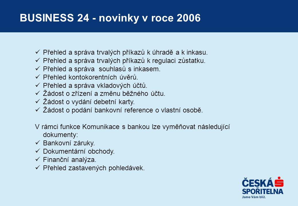 BUSINESS 24 - novinky v roce 2006