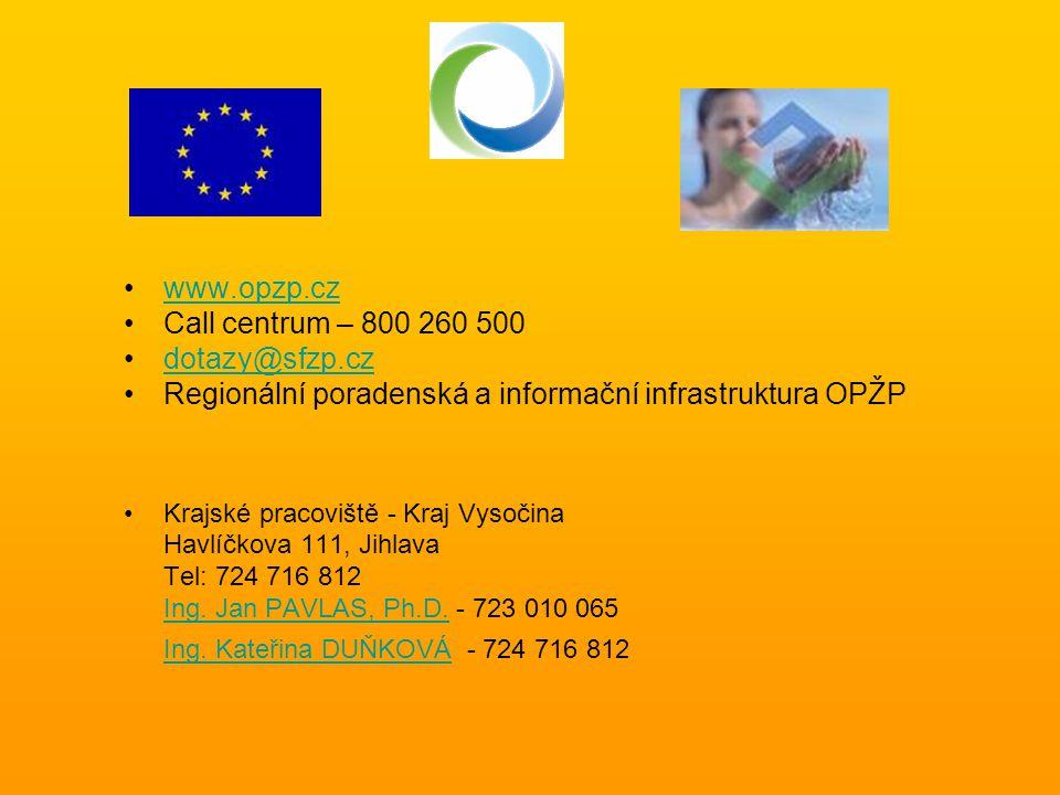 Regionální poradenská a informační infrastruktura OPŽP