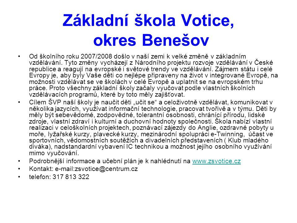 Základní škola Votice, okres Benešov