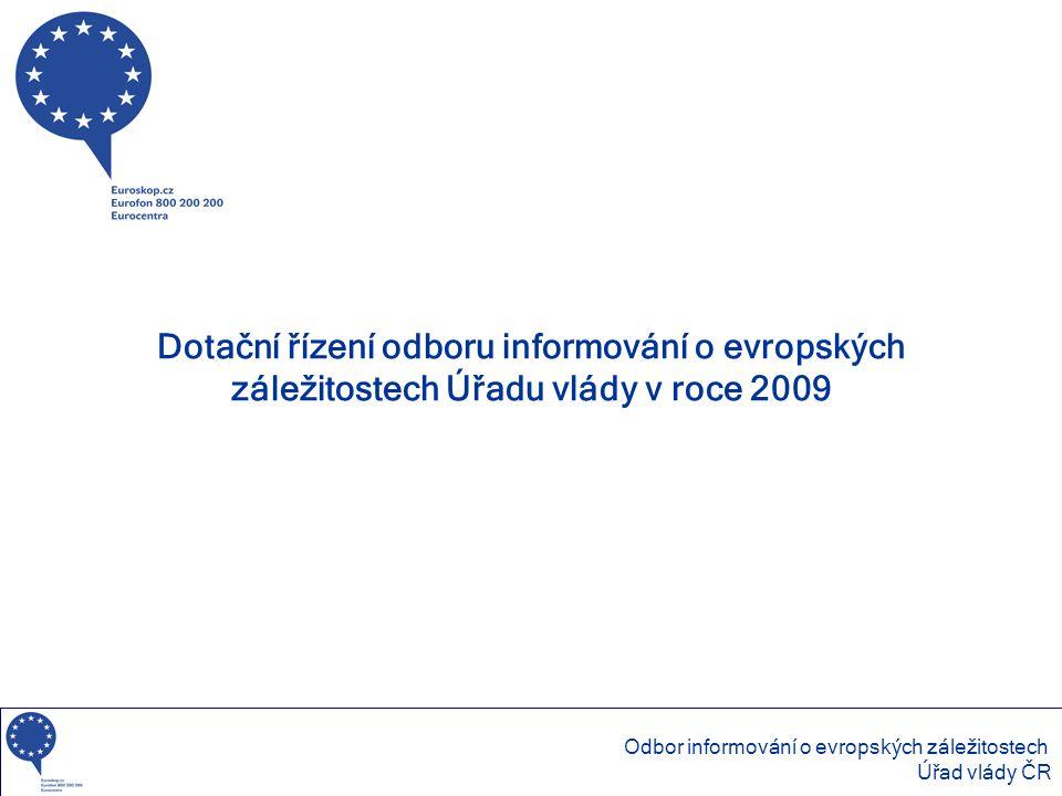 Dotační řízení odboru informování o evropských záležitostech Úřadu vlády v roce 2009