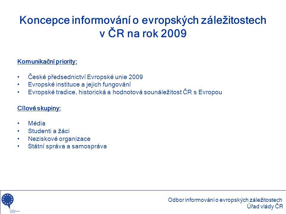 Koncepce informování o evropských záležitostech v ČR na rok 2009