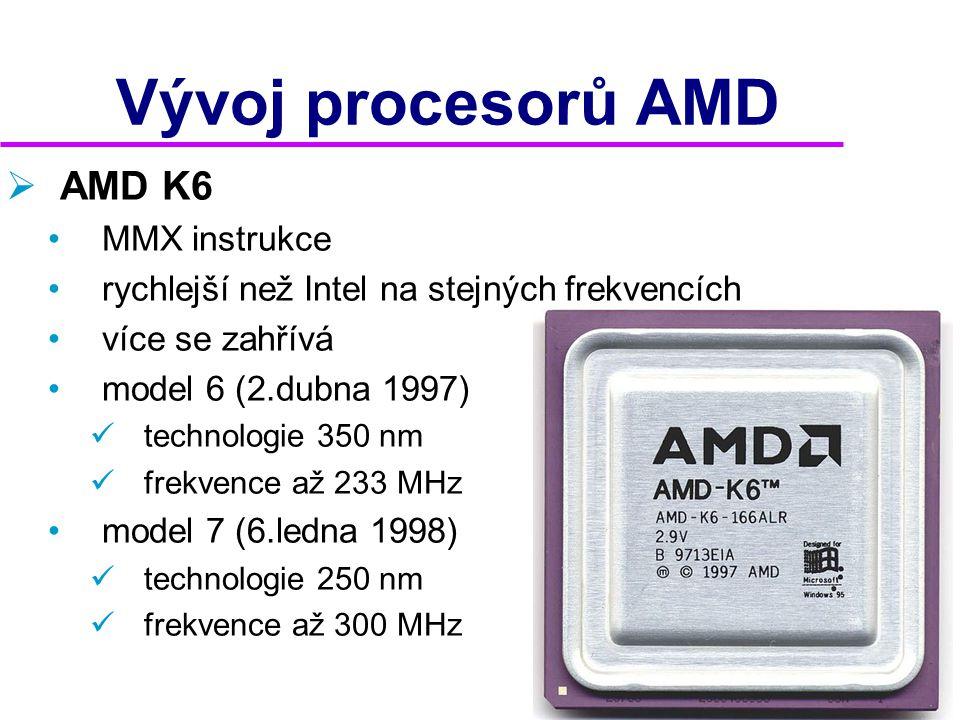 Vývoj procesorů AMD AMD K6 MMX instrukce
