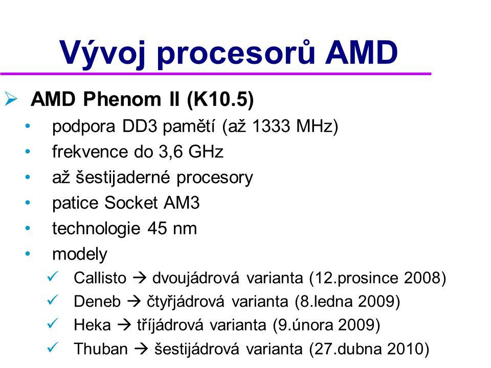 Vývoj procesorů AMD AMD Phenom II (K10.5)
