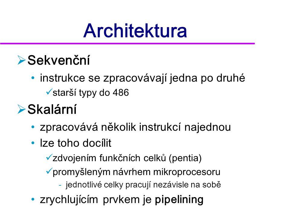 Architektura Sekvenční Skalární