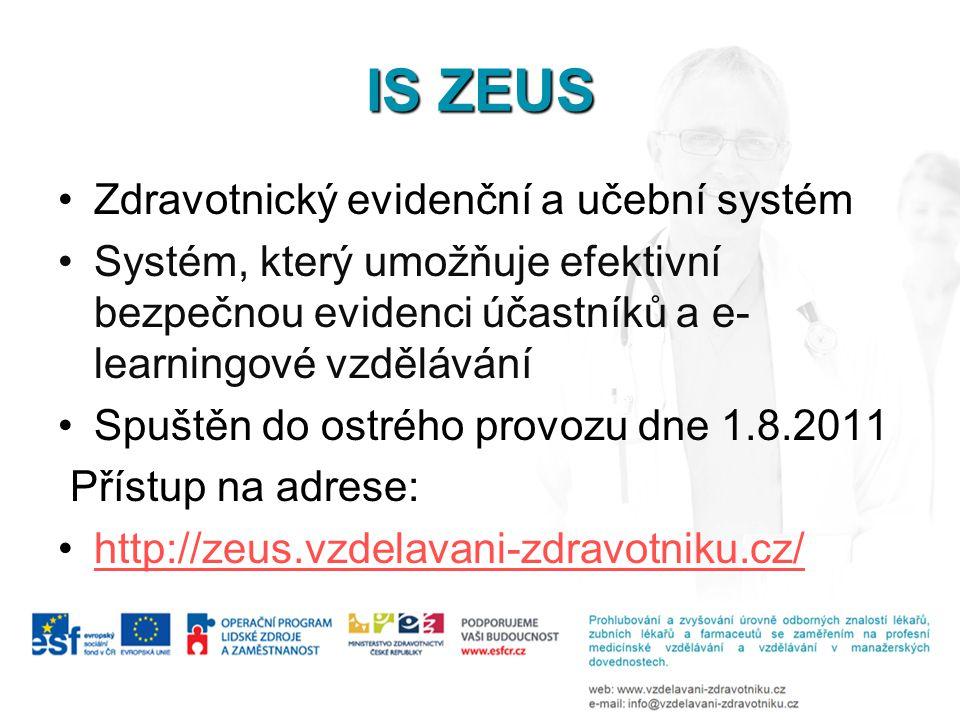 IS ZEUS Zdravotnický evidenční a učební systém