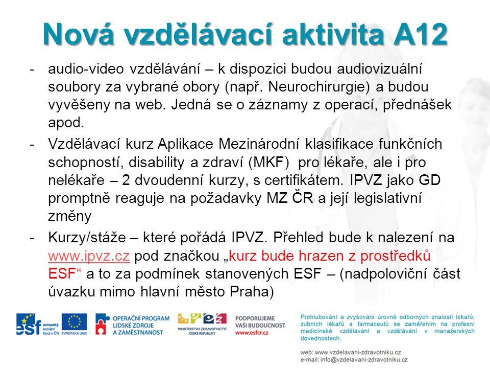 Nová vzdělávací aktivita A12
