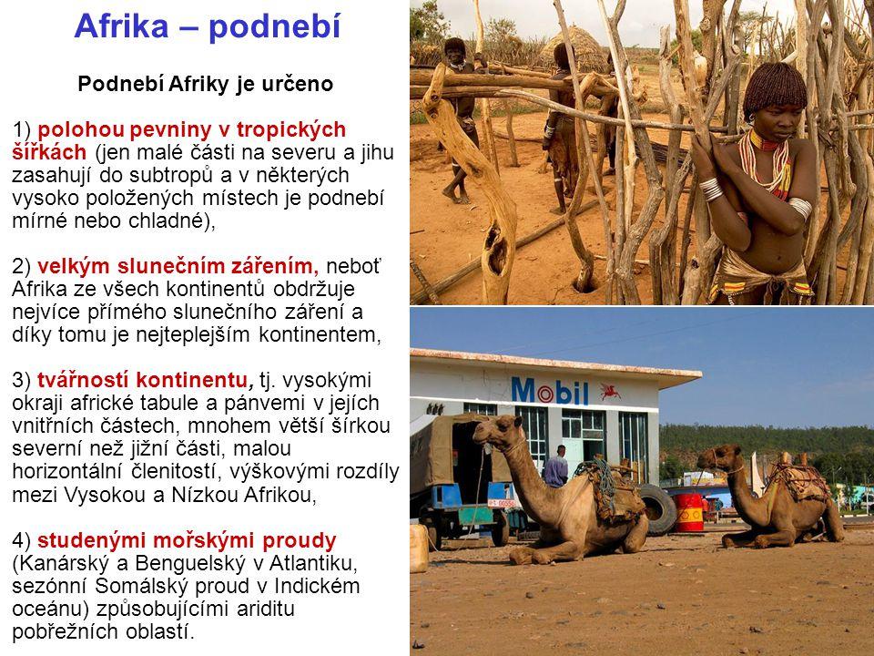 Podnebí Afriky je určeno