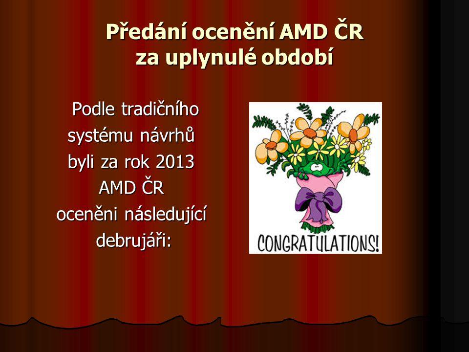 Předání ocenění AMD ČR za uplynulé období